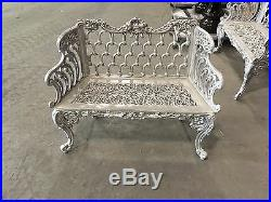 (1) Cast Aluminum Colonial Bench Reproduction of Cast Iron Colonial bench