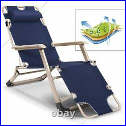 2 Pack Adjustable Chaise Lounge Chair Outdoor Reclining Seat Beach Pool Sun Bed