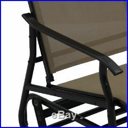 2 Person Loveseat Glider Rocking Bench Patio Double Armchair Garden