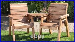 2 Seater Person Wooden Garden Bench Love Seat Chair Patio Set 20 Year Treatment