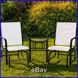 2 Seater Rocking Chair Garden Furniture Patio Rocker Love Seat Outdoor Table C