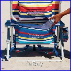 2 Tommy Bahama Backpack Beach Chairs Adjusts to 5 Positions & Lays Flat & Pillow