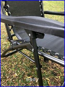 2 X Zero Gravity Folding Chair Adj / Recliner Sun Lounger