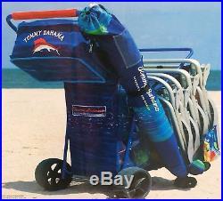 2018 Tommy Bahama Beach Cart Wide Sand Wagon Wheeler with All Terrain Big