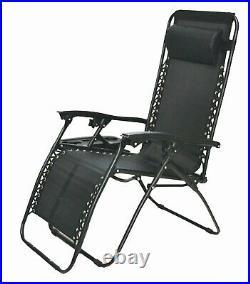 2X Zero Gravity Recliner Outdoor Chair Reclining Garden Sun Lounger Portable