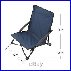 2pc Low Sling Event Sand Beach Camping Hiking Folding Chair With Carrying Bag