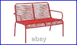 2x Ipanema 2 seater bench Coral (2 Benches)