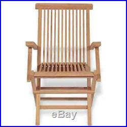 2x Teak Garden Patio Chairs Set Wooden Folding Armchiar Seats Outdoor Furniture