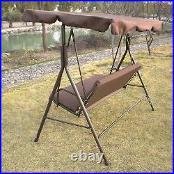 3-Person Canopy Swing Chair Patio Backyard Awning Yard Porch Furniture Outdoor
