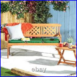 3 Seater Bench Fence For Garden Large Wooden Seat Eucalyptus Hardwood Outdoor