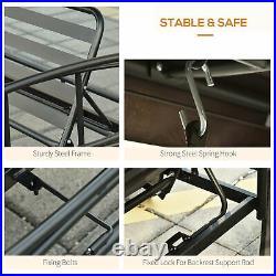 3 in 1 Patio Swing Chair Gazebo Canopy Daybed Hammock Outdoor Furniture Grey