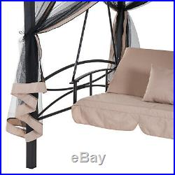 3 in 1 Patio Swing Gazebo Canopy Daybed Hammock Canopy Tent Outdoor Furniture