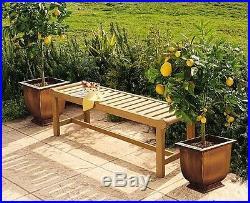 4.5 Feet Teak Wood Outdoor Indoor Patio Furniture Garden Backless Bench Revni