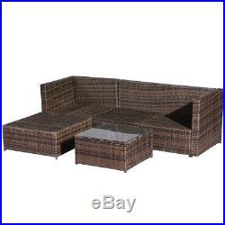 4/6 Piece Rattan Patio Wicker Rattan Outdoor Furniture Sofa WithStorage Box Table