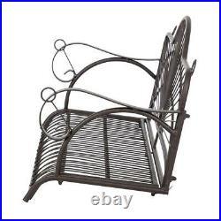 400lbs Metal Porch Swing Chair Patio Backyard Garden Yard Hanging Bench Outdoor