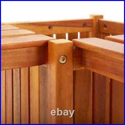 46 Solid Acacia Wood Garden Corner Bench with Planter Outdoor Seat