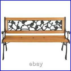 49 Patio Porch Garden Bench Cast Iron PVC Outdoor Chair Love Seats Park Benches