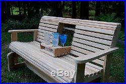 5' CYPRESS Wood Wooden FREESTANDING GLIDER SLIDER PORCH YARD BENCH SWING USA