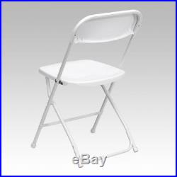 (50 PACK) Stackable Plastic Folding Chairs White Color