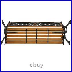 50 Patio Porch Garden Bench Cast Iron Outdoor Chair Love Seats Park Benches