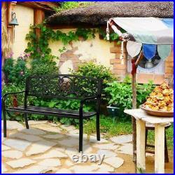 50 Patio Porch Garden Bench Outdoor Chair Love Seat Park Backyard Chair Home us
