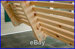 5Ft Pine Rolled Porch Swing handmade by Peach State Swings! Blowout Sale