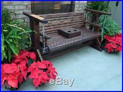 5ft Handmade Southern Style Wood Porch Glider, Patio Glider, Glider, Bench Swing