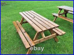 6 Seater picnic table, pub bench, commercial grade amazing value £89