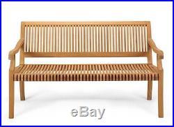 A Grade Teak 4 Feet Seating Outdoor Indoor Patio Furniture Garden Bench New