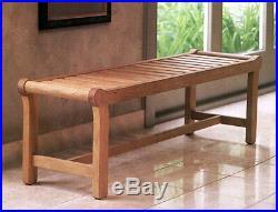 A Grade Teak Outdoor Indoor Patio Teak Furniture Garden Backless Bench Pool Deck