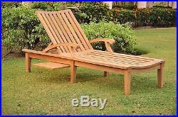 A Grade Teak Steamer Chaise Sun Lounger Pool Outdoor Garden Patio Nd Collection