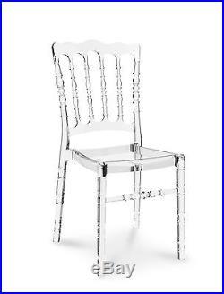 Acryl Ghost Plexiglas Vintage Hochzeit Stuhl Transparent Klar Durchsichtig. NEU