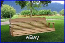 Amish Made Cedar 5' Porch Swing