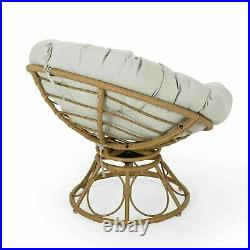 Andrus Outdoor Papasan Swivel Chair with Water Resistant Cushion