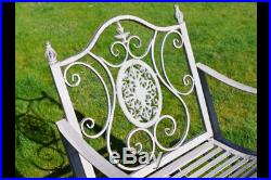 Antique Style Ornate Grey Outdoor Garden Patio Conservatory Sun Rocking Chair