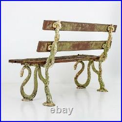 Antique Victorian Serpent Garden Bench