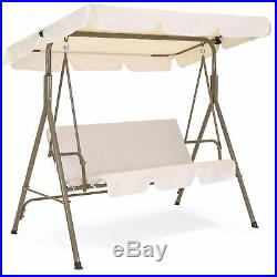 BCP 2-Person Outdoor Canopy Swing Glider Furniture with Cushions, Steel Frame