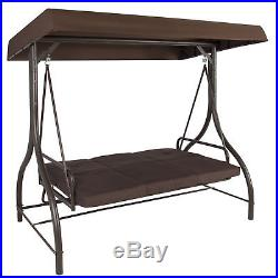 BCP Converting Outdoor Swing Canopy Hammock Seats 3 Patio Deck Furniture