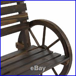 BCP Wooden Wagon Wheel Bench