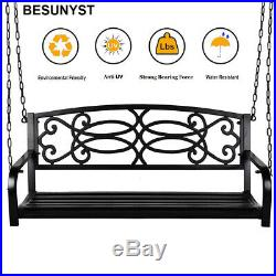 BESUNYST Modern Hanging Patio Swing Bench for Home Garden Outdoor Porch Swing