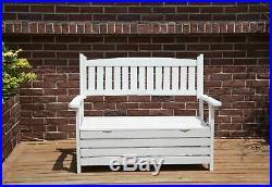 BIRCHTREE Garden Bench 2 Seater Storage Box Chair Wood Patio Deck Patio Outdoor