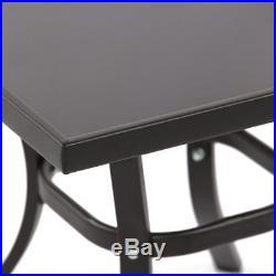 BONA 3PC Patio Outdoor Rocking Chair Cushion Bistro Set WithTable Garden Furniture