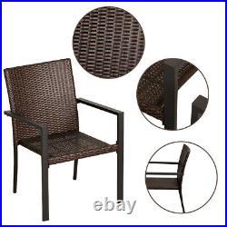 Bali outdoors 2PCS Retro classical PE Rattan Wicker Patio Chair in garden