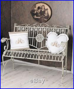 Groovy Bench Shabby Chic Vintage Bench White Garden Bench Metal Theyellowbook Wood Chair Design Ideas Theyellowbookinfo