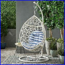 Berkley Outdoor Wicker Hanging Teardrop / Egg Chair