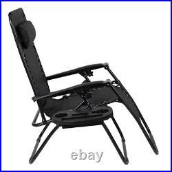 Black Folding Patio Lounge Chair Zero Gravity Chair 2 Pack Zero Gravity Recliner