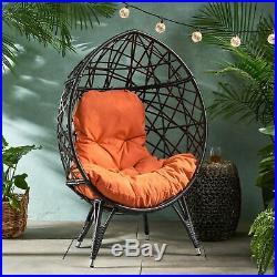 Bodee Outdoor Wicker Teardrop Chair with Cushion