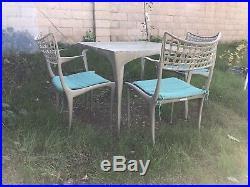 Brown Jordan Sol Y Luna Lounge Patio set 3 Chairs & 1 Table Dan Johnson