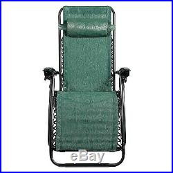Camco Open Air Zero Gravity Reclining Lounge Chair 51811 Green Swirl 2 Set