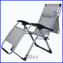 Canopy Square Frame 2PCS Zero Gravity Folding Lounge Beach Chairs WithCup Holder